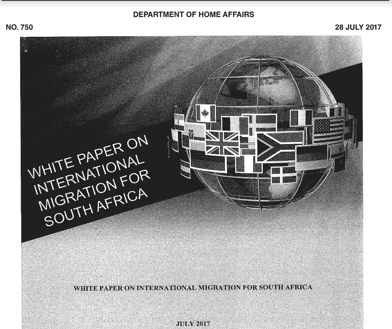white paper on international migration south africa